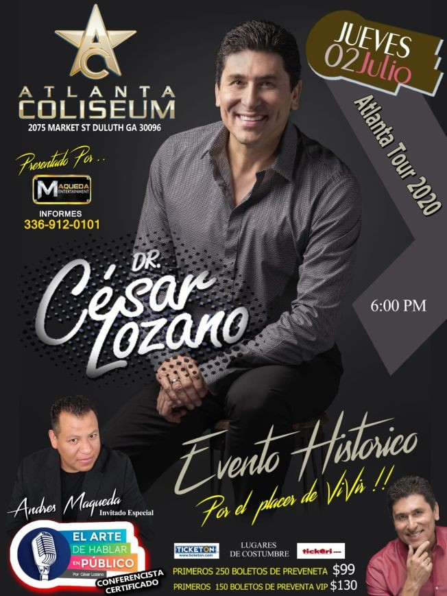 Flyer for Dr Cesar Lozano En Duluth,GA