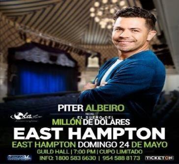 Flyer for POSTPONED: Piter Albeiro En East Hampton,NY