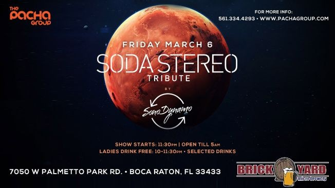 Flyer for Soda Stereo Tribute by SONO DYNAMO