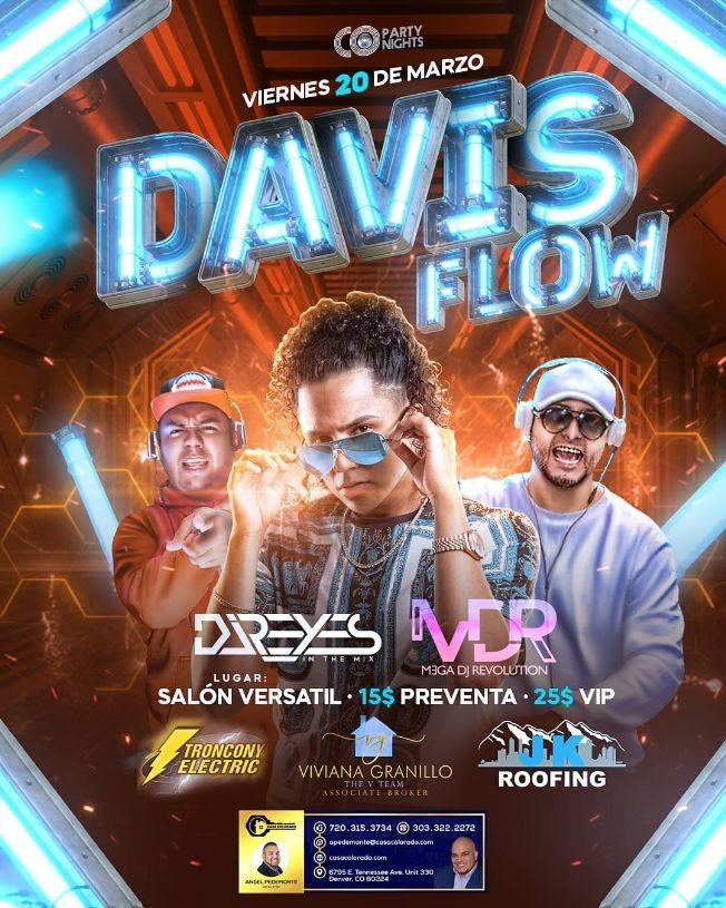 Flyer for Davis Flow En Concierto En Commerce City,CO CANCELED