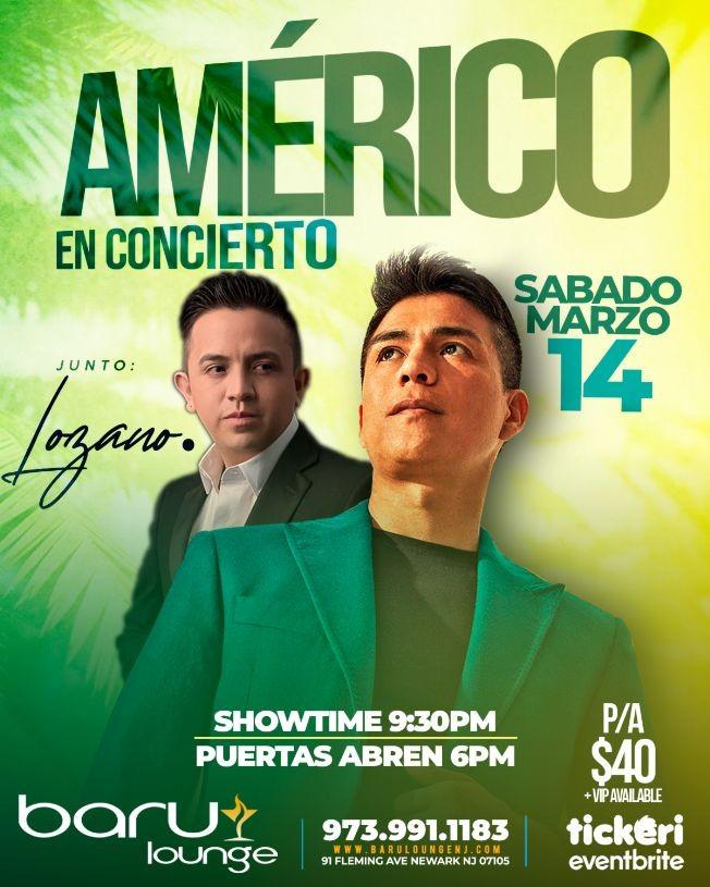 Flyer for Americo En Concierto En Newark, NJ POSTPONED