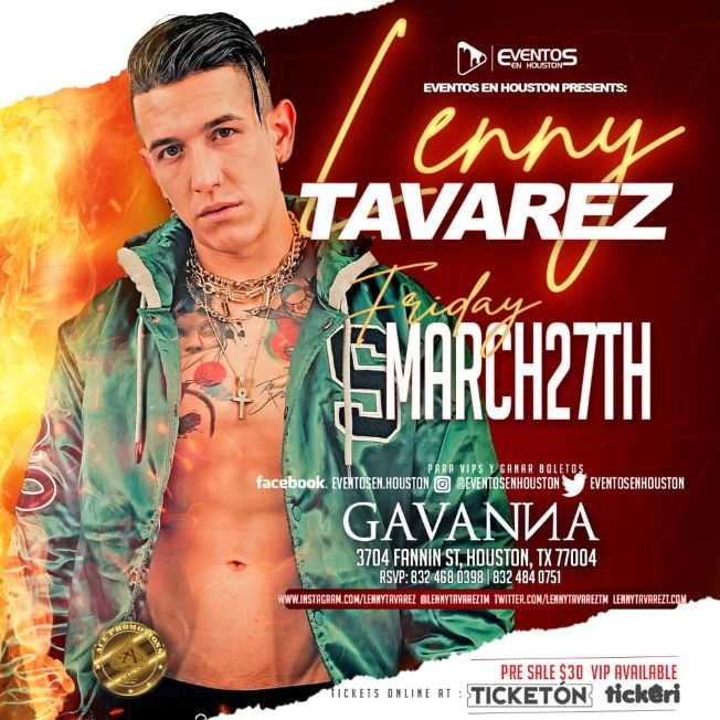 Flyer for Lenny Tavarez POSTPONED