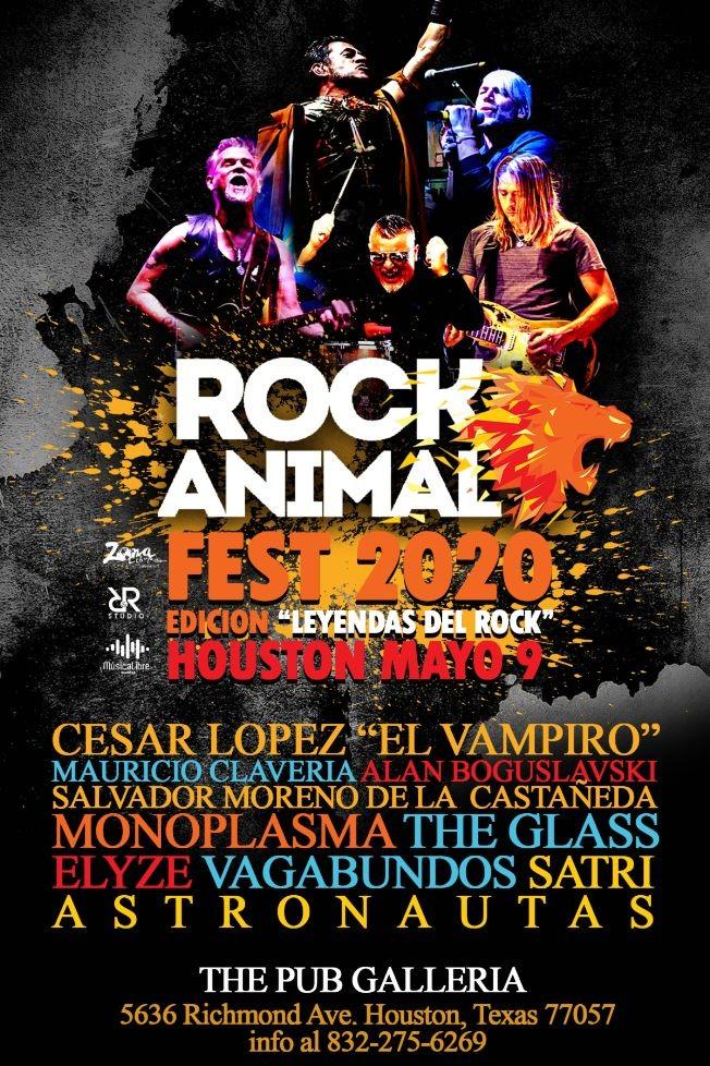Flyer for Rock Animal Fest - Leyendas del Rock