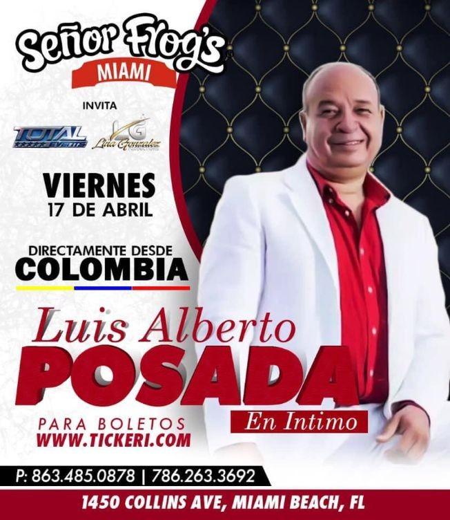 Flyer for Luis Alberto Posada en Concierto!