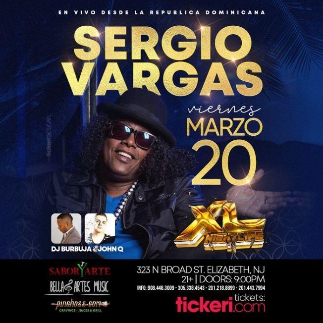 Flyer for Sergio Vargas con su Merengue Por Siempre en Vivo! POSTPONED