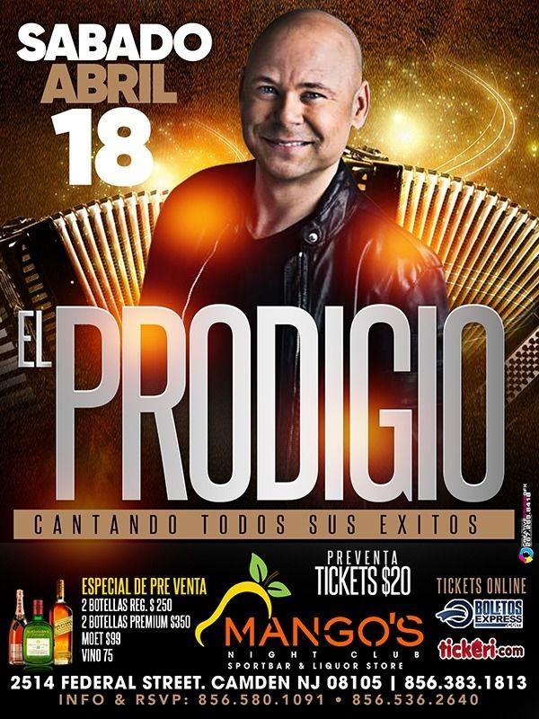 Flyer for El Prodigio en Concierto!