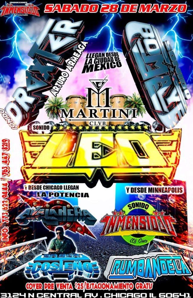 Flyer for Sonido Draxter y Sonido Leo