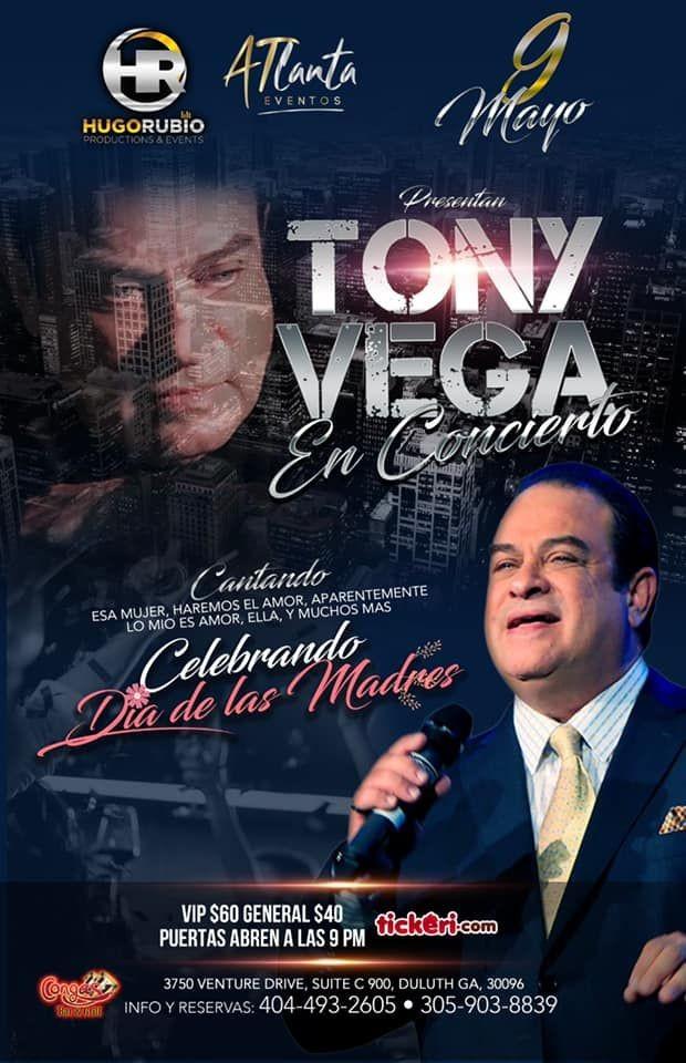 Flyer for Tony Vega en Atlanta  CANCELED