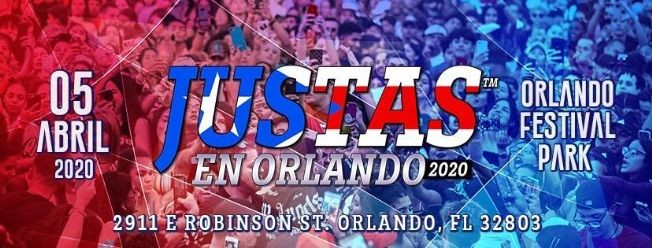 Flyer for Justas en Orlando 2020