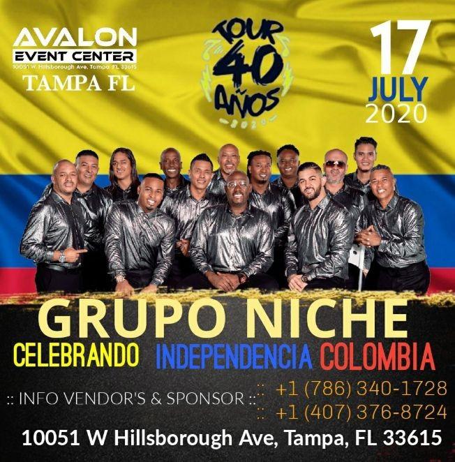 Flyer for Grupo Niche En tampa fl