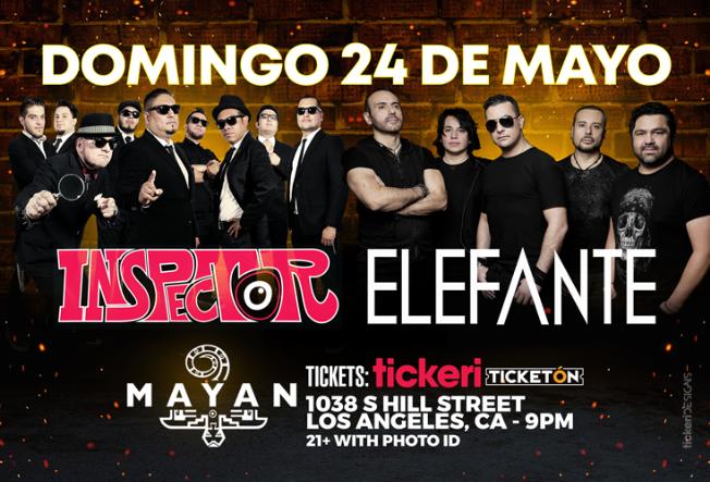Flyer for POSTPONED: INSPECTOR Y ELEFANTE EN LOS ANGELES