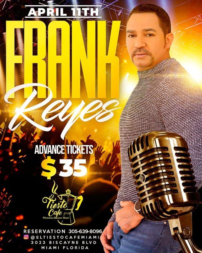Flyer for Frank Reyes El Principe De Bachata