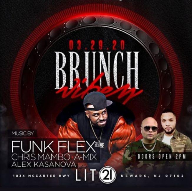 Flyer for Brunch Vibez Funk Flex Live At Lit 21
