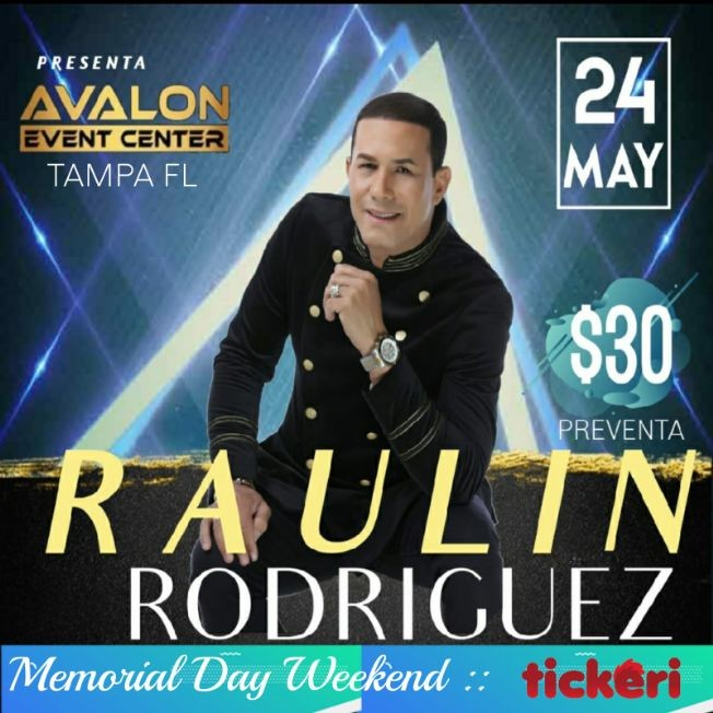 Flyer for POSTPONED: Raulin Rodriguez En Tampa  Fl