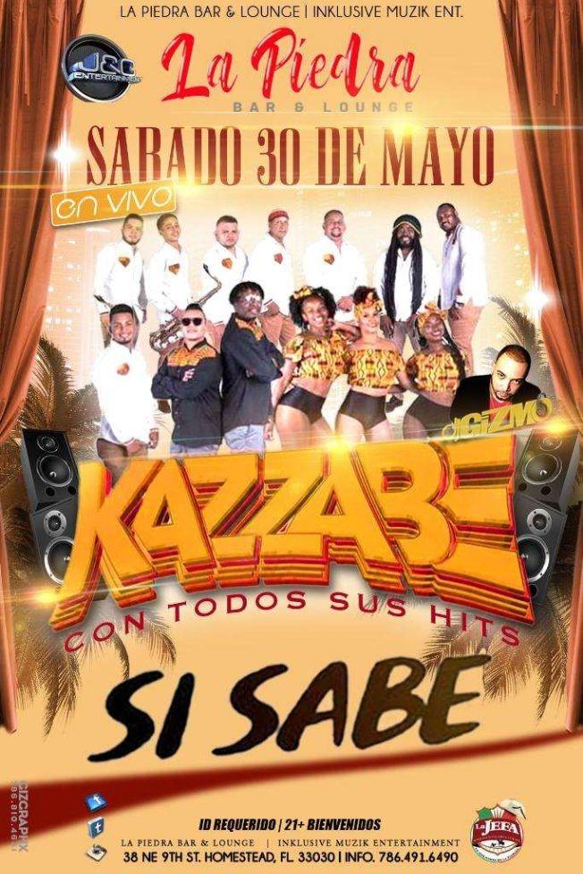 Flyer for Grupo Kazzabe En Vivo