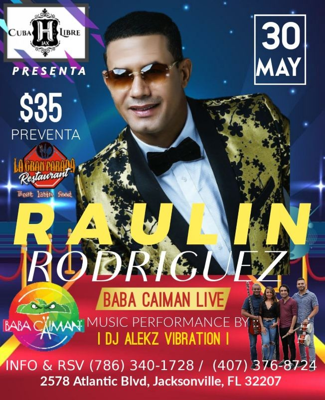 Flyer for POSTPONED: RAULIN RODRIGUEZ EN JACKSONVILLE FL