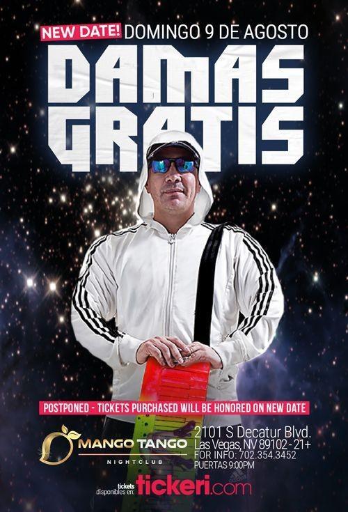Flyer for DAMAS GRATIS EN LAS VEGAS CANCELED