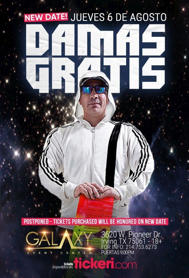 Flyer for DAMAS GRATIS EN HOUSTON CANCELED