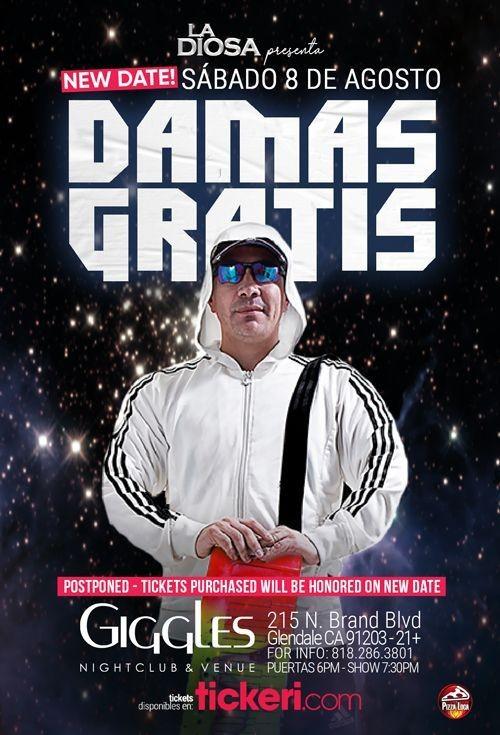 Flyer for DAMAS GRATIS EN LOS ANGELES CANCELED