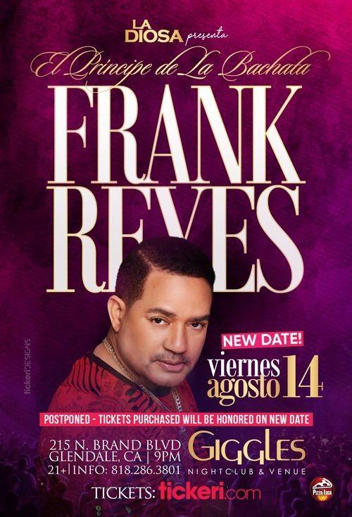 Flyer for FRANK REYES EN LOS ANGELES CANCELED