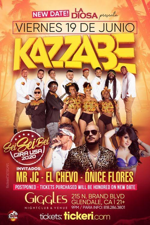 Flyer for KAZZABE EN LOS ANGELES CANCELED