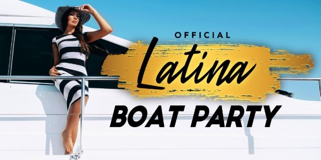 Flyer for Official Latina Boat Party - Latin Music & New York City Skyline-Friday Night