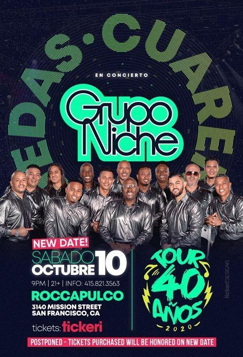 Flyer for GRUPO NICHE EN SAN FRANCISCO