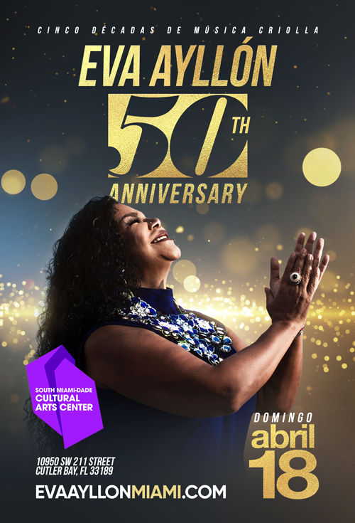 Flyer for Eva Ayllon 50 Aniversario En Miami, FL