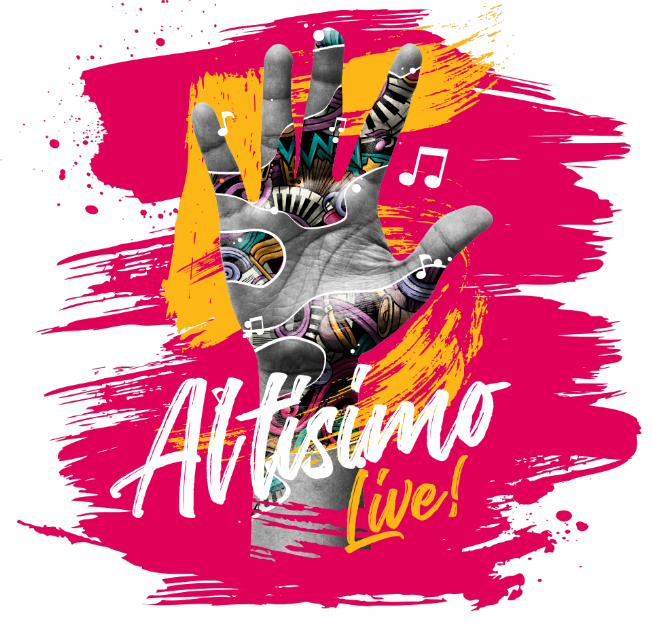 Flyer for Live at home: Altisimo live with J Balvin, Zion y Lennox, Juanes, Marc Anthony, Los Tigres del Norte, Mana and much more