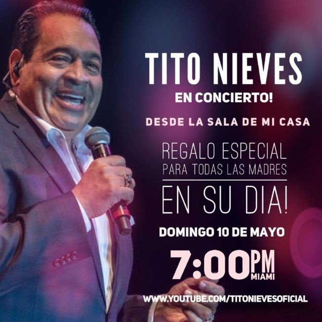 Flyer for Live at Home: Tito Nieves