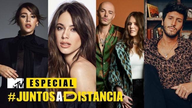 Flyer for Live at Home: MTV Especial Juntos a Distancia con Sebastian Yatra, Molotov, Mon Laferte, Jesse y Joy y mas!