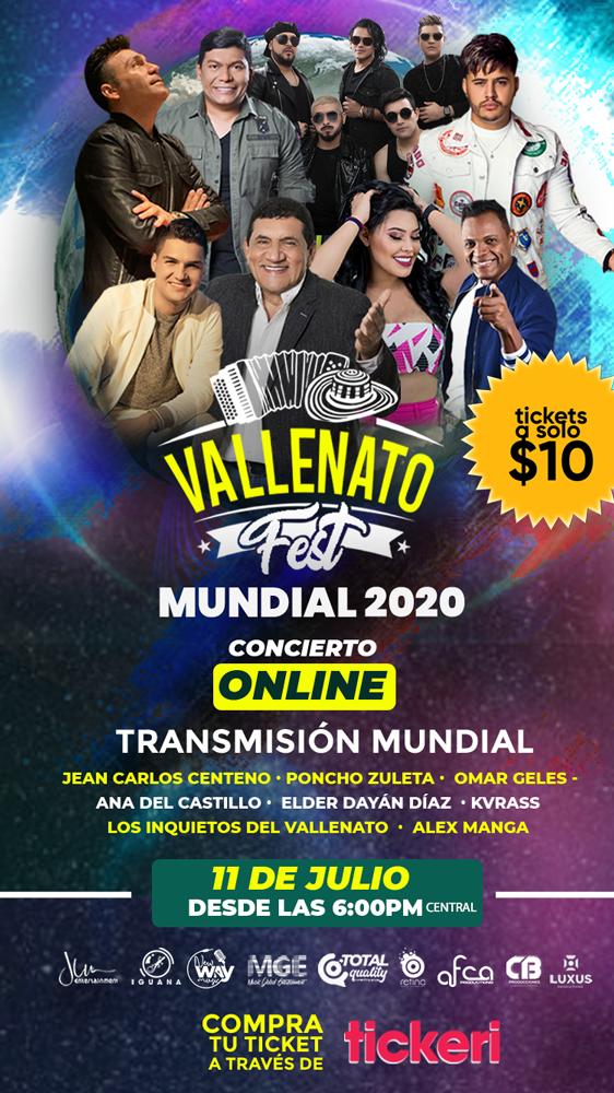 Flyer for Live at Home: Vallenato Fest Mundial