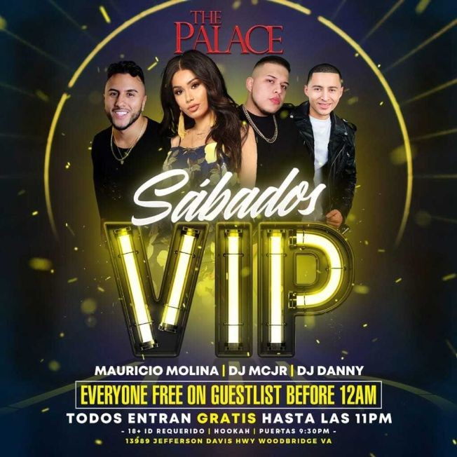 Flyer for Sabados VIP en The Palace Nightclub!