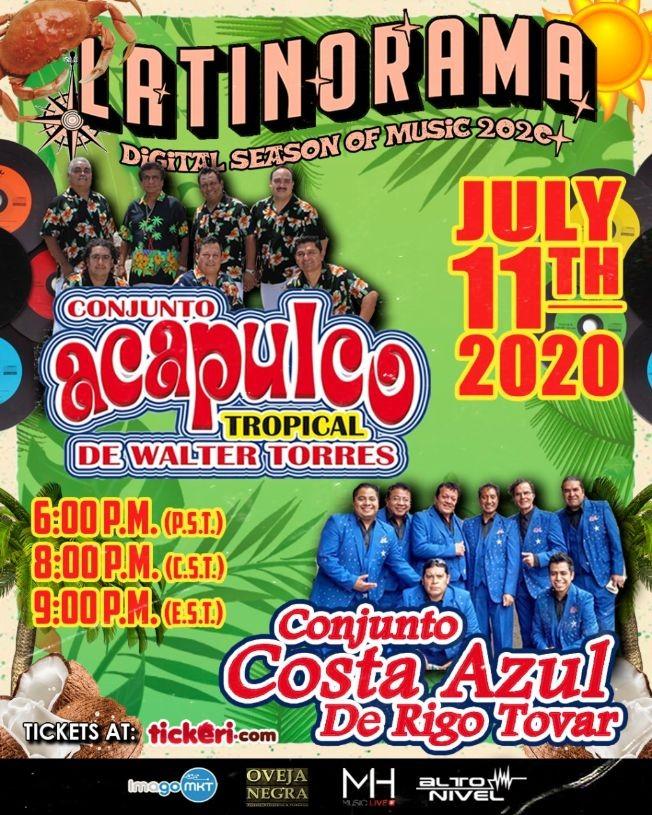 Flyer for Latinorama: Acapulco Tropical y Conjunto Costa Azul