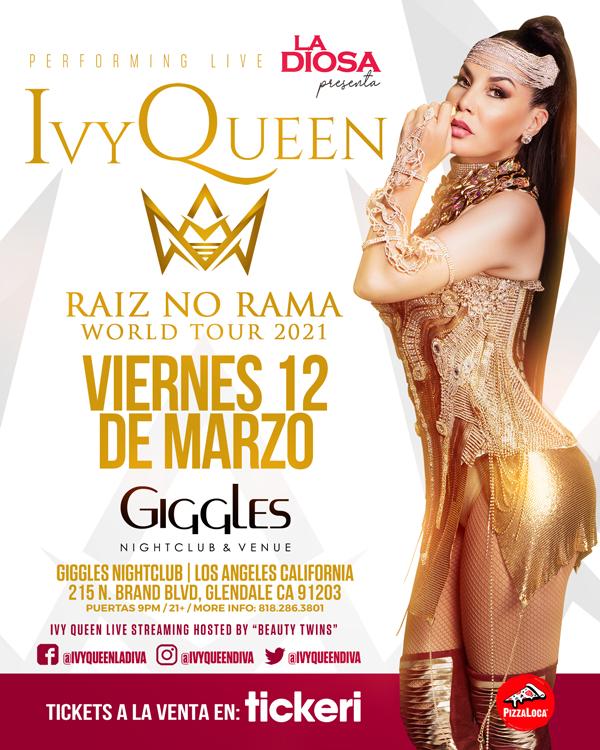 Flyer for IVY QUEEN EN LOS ANGELES NEW DATE CONFIRMED