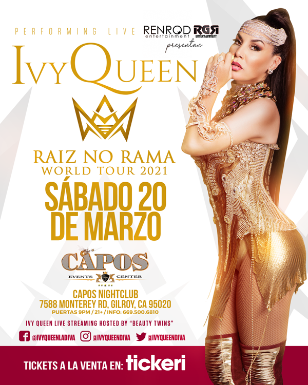 Flyer for IVY QUEEN EN GILROY NEW DATE CONFIRMED