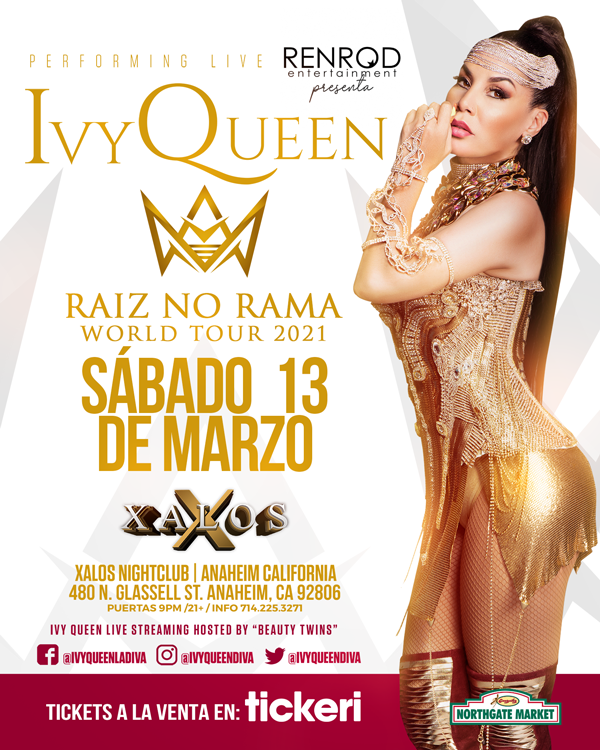 Flyer for IVY QUEEN EN ANAHEIM NEW DATE CONFIRMED