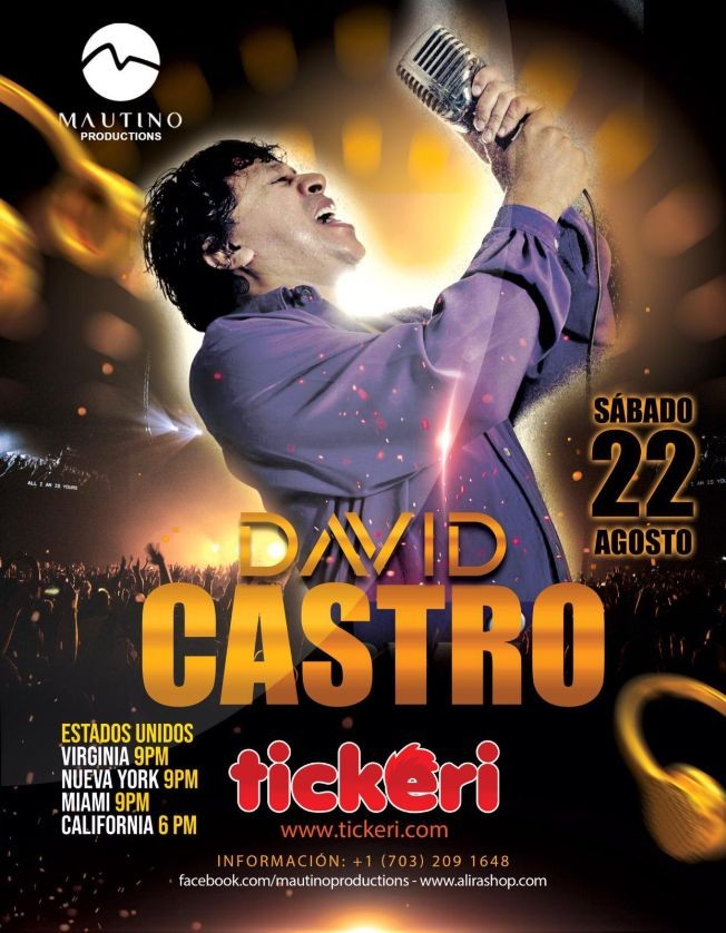 Flyer for David Castro en Concierto Virtual