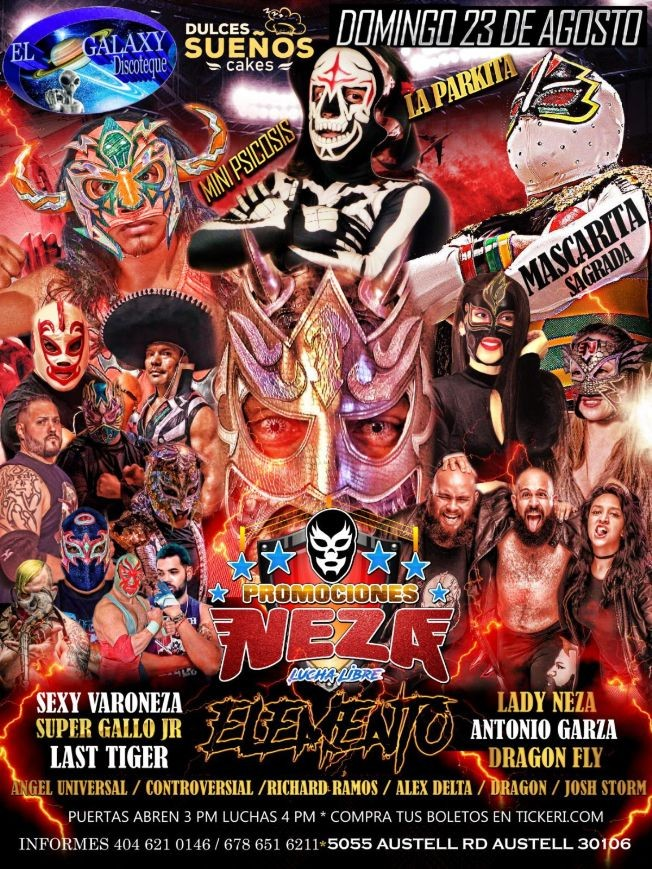 Flyer for PROMOCIONES NEZA PRESENTA LUCHA LIBRE MEXICANA