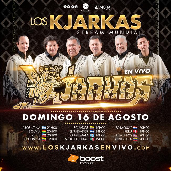 Flyer for Los Kjarkas en Vivo: Stream Mundial