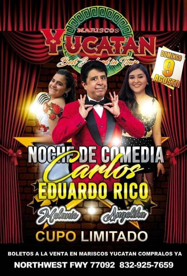 Flyer for Noche de Comedia con Carlos Eduardo Rico!