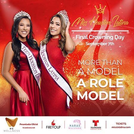 Flyer for Miss Houston Latina 2020