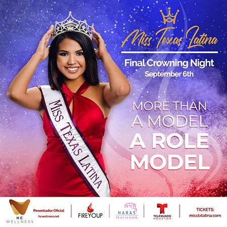 Flyer for Miss Texas Latina 2020