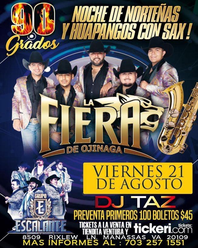 Flyer for Noche de Norteñas con La Fiera de Ojinaga y Grupo Escalante en Vivo!