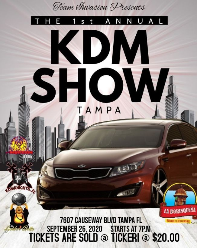 Flyer for 1ST ANNUAL KDM CAR SHOW