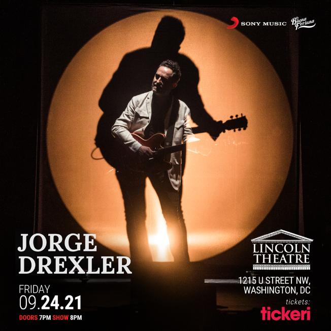 Flyer for Jorge Drexler presenta: Silente / Washington DC NEW CONFIRMED DATE