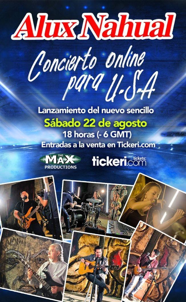 Flyer for Alux Nahual concierto Virtual en VIVO