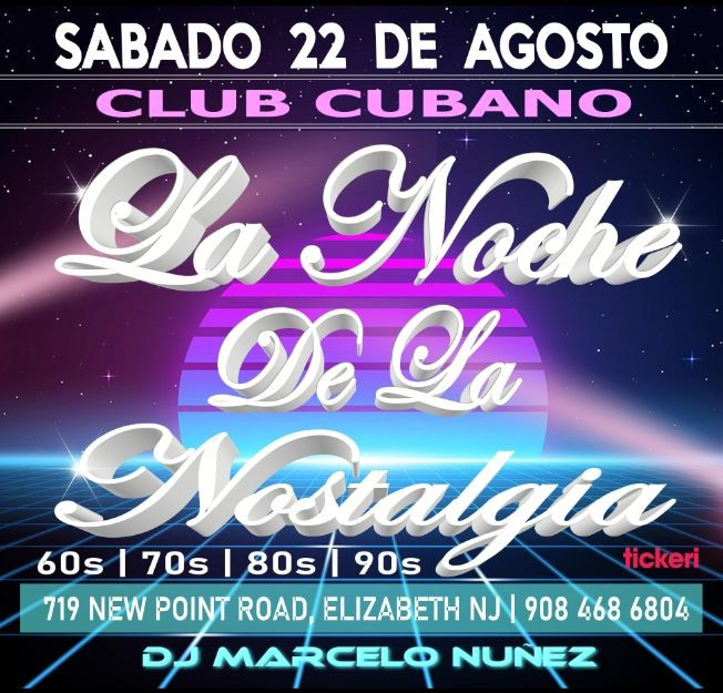 Flyer for La Noche de la Nostalgia
