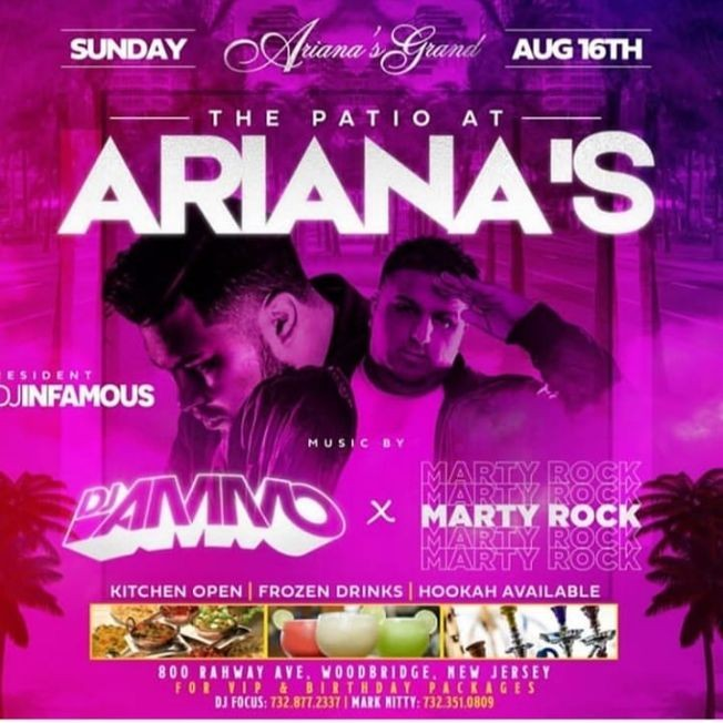 Flyer for Patio Sundays Blazhe Clothing Line Release Party At Adriana's