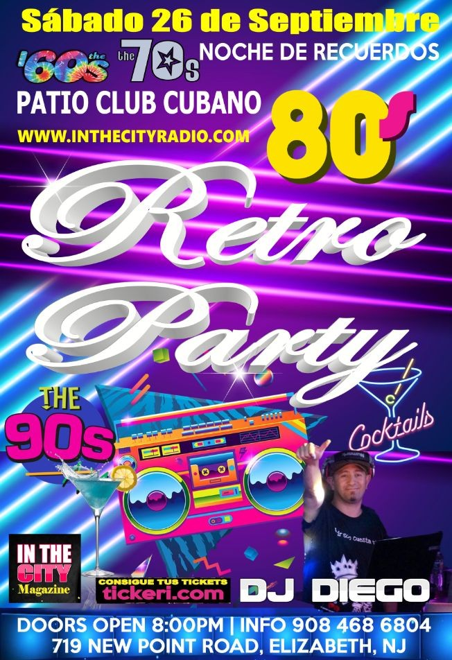 Flyer for Retro Party
